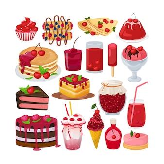 Ensemble de desserts sucrés