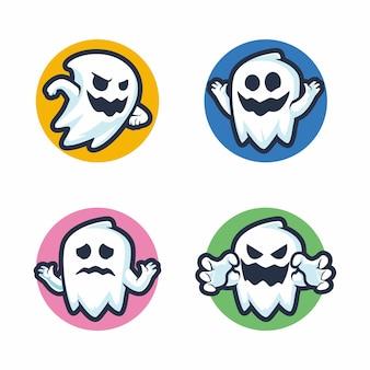 Ensemble de dessin fantôme fantôme mignon halloween