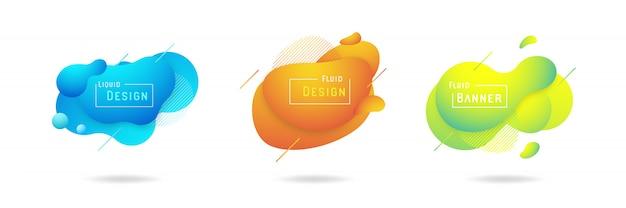 Ensemble de dessin vectoriel abstrait liquide
