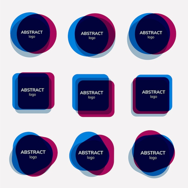 Ensemble de dessins abstraits de badge