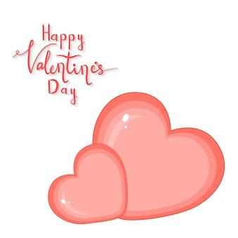Ensemble de dessins animés avec des animaux et des lettres pour la saint-valentin. autocollants dans la fleur.