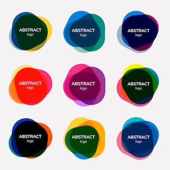 Ensemble de dessins d'insignes abstraits