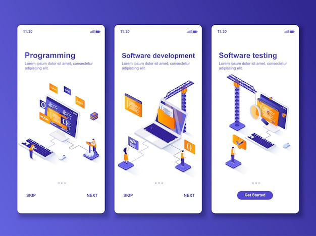 Ensemble de développement de logiciels d'applications isométrique