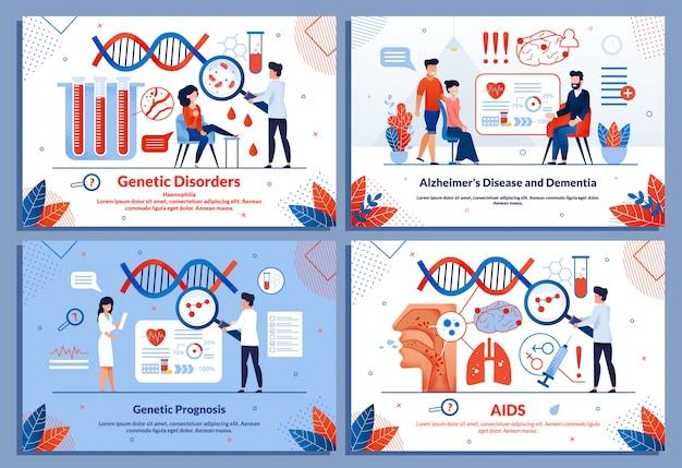 Ensemble de diapositives médicales pour les diapositives de recherche sur les maladies