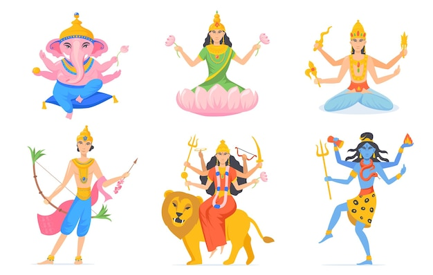 Ensemble des dieux indiens