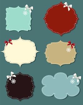 Ensemble de différentes bulles, éléments de conception