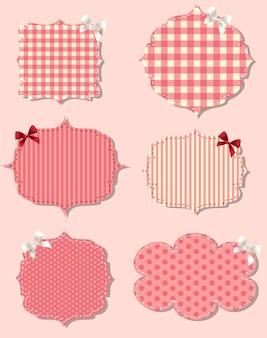 Ensemble de différentes étiquettes de saint-valentin, éléments de conception
