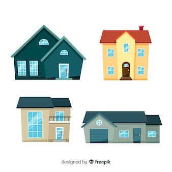 Ensemble de différentes maisons