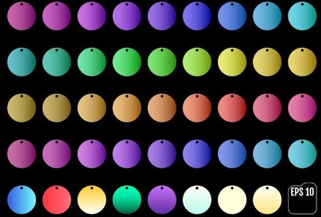 Ensemble de différentes paillettes colorées. accessoires de bijoux.