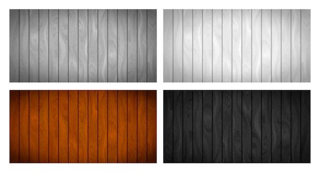 Ensemble de différentes planches en bois réalistes avec texture