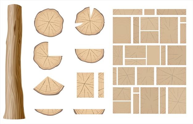 Ensemble de différentes textures en bois