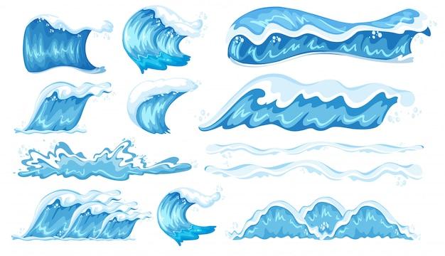 Ensemble de différentes vagues