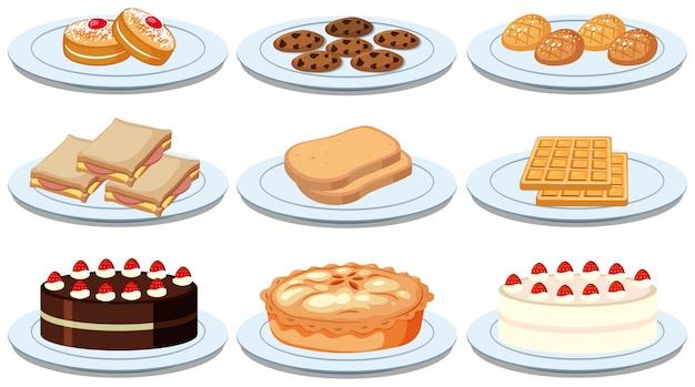 Ensemble de différents aliments