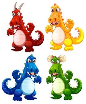 Ensemble de différents dragons