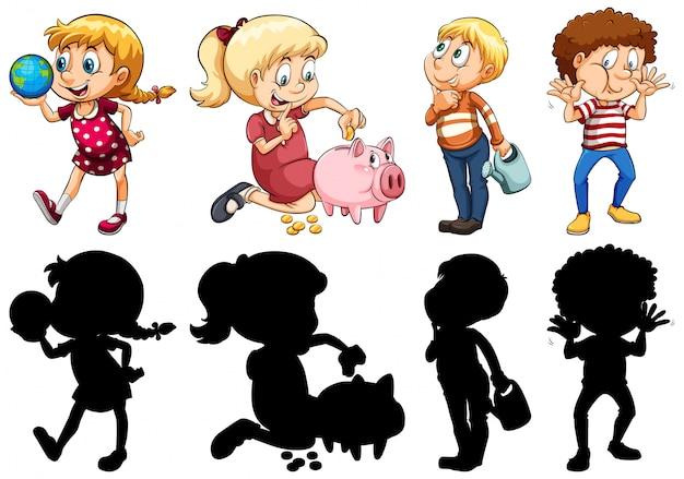 Ensemble de différents enfants