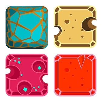 Ensemble de différents matériaux et textures