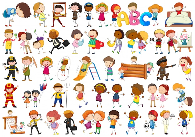 Ensemble de différents personnages simples