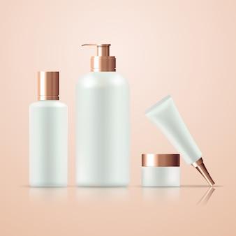 Ensemble de différents produits de soins de la peau