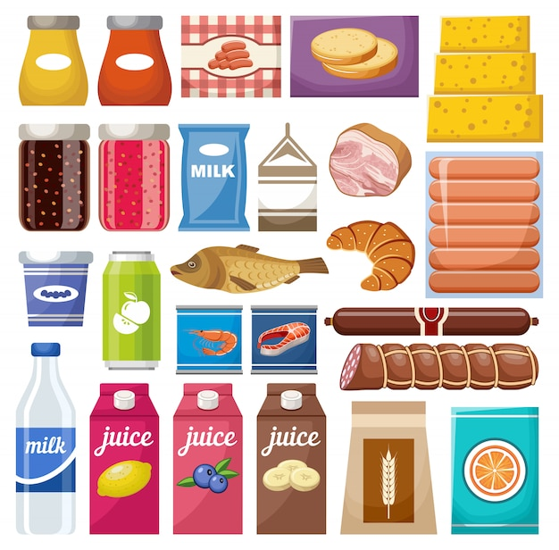 Ensemble de différents produits