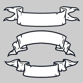 Ensemble de différents tipes de ruban vintage rétro. tamplate pour le texte, fond de conception