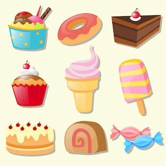 Ensemble de différents types de bonbons
