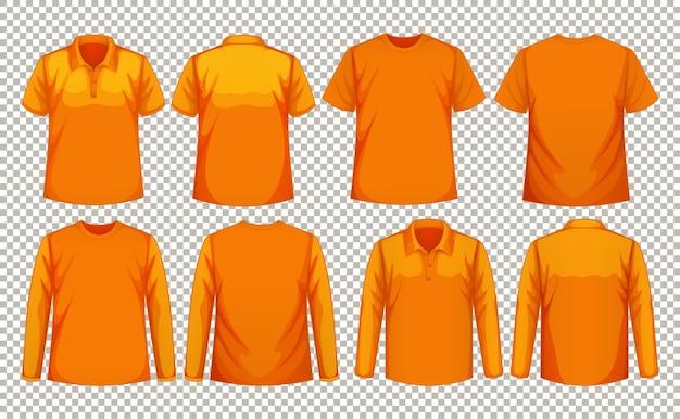 Ensemble de différents types de chemise de la même couleur