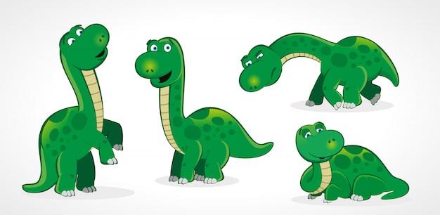 Ensemble de dinosaure adulte mignon