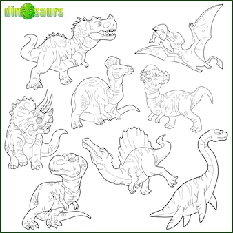 Ensemble de dinosaure