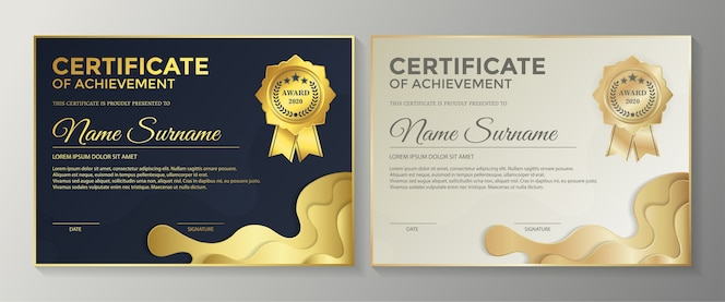 Ensemble de diplôme du meilleur prix du certificat de réussite