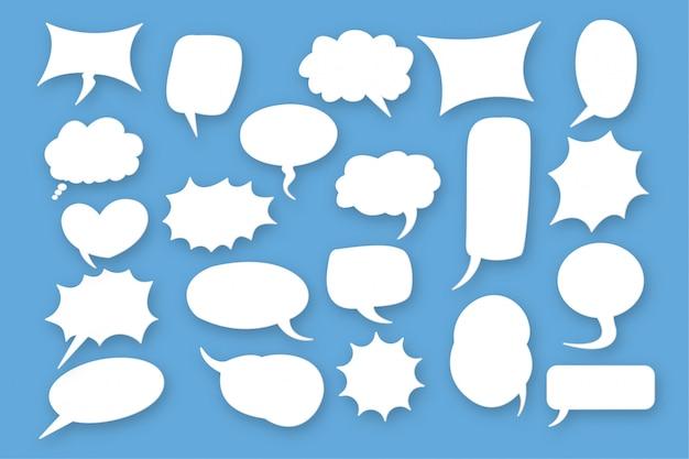 Ensemble de discours de bulle comique