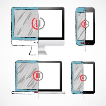 Ensemble de dispositifs numériques