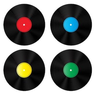 Ensemble de disques en vinyle