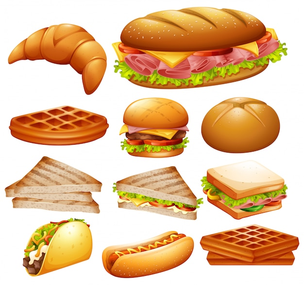 Ensemble de divers aliments