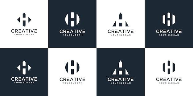 Ensemble de divers modèles de logo h