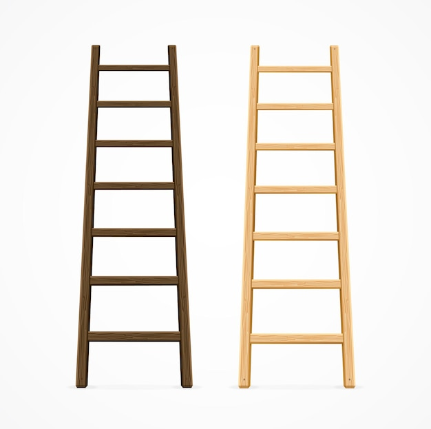Ensemble de diverses échelles. couleur marron foncé et clair.