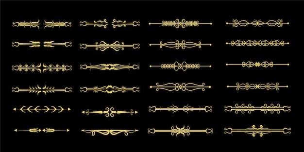 Ensemble diviseur ornemental doré