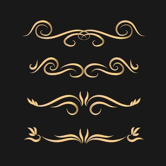 Ensemble de diviseurs calligraphiques