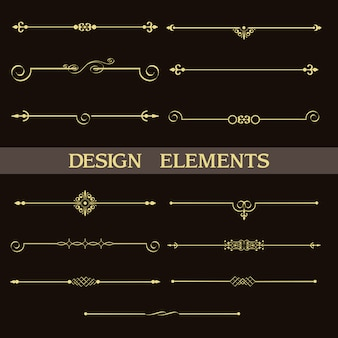 Ensemble de diviseurs décoratifs vintage doré