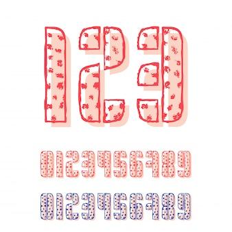 Ensemble de dix nombres de zéro à neuf