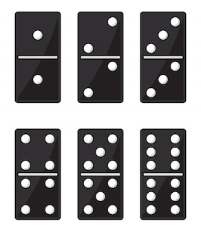 Ensemble domino noir