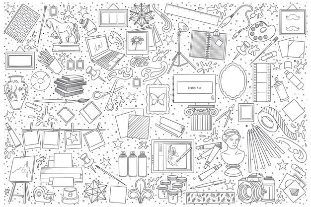Ensemble de doodle d'art