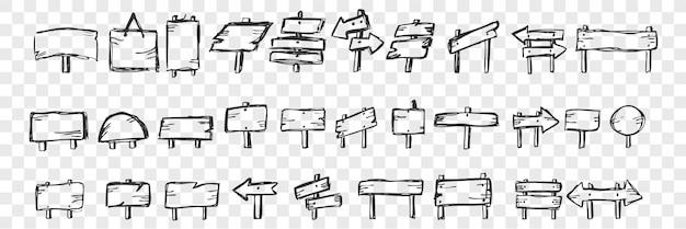 Ensemble de doodle de comprimés dessinés à la main
