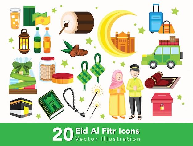 Ensemble de doodle ramadan