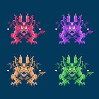 Ensemble de dragon mignon