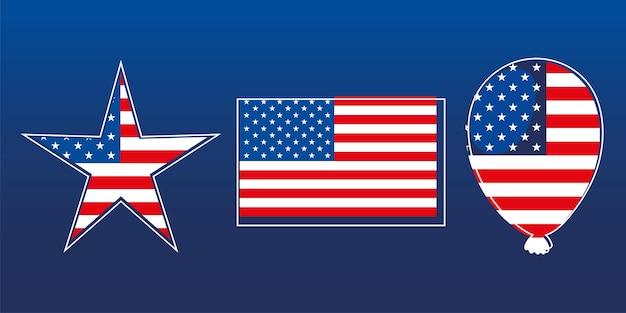 Ensemble de drapeau américain