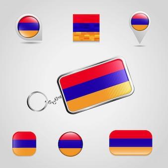 Ensemble de drapeau d'arménie