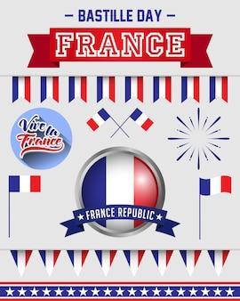 Ensemble de drapeau de la france