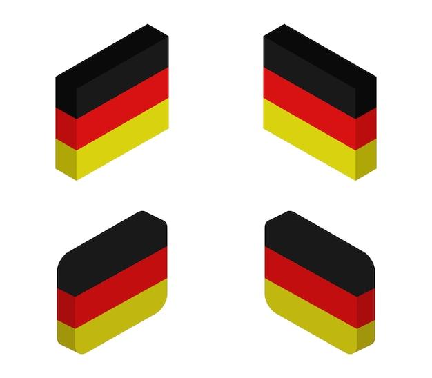Ensemble de drapeaux de l'allemagne isométrique
