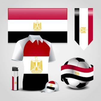 Ensemble de drapeaux de pays d'égypte