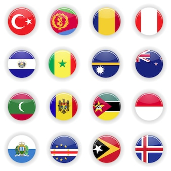 Ensemble de drapeaux